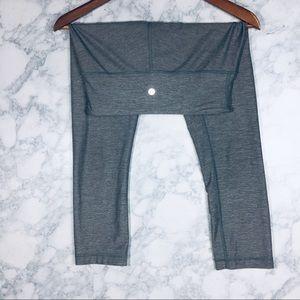 Lululemon 🍋 Grey Cropped High Time Leggings
